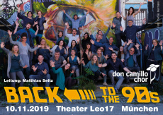 Back to the 90s Jubiläumskonzert don camillo chor 25 Jahre